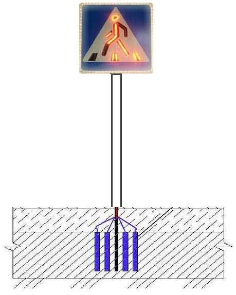 Подсветка дорожных знаков с питанием от земляных батарей