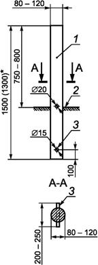 Дорожный сигнальный столбик ГОСТ Р 50970-2011