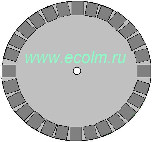 Магнитный двигатель Charles Flynn's, диск