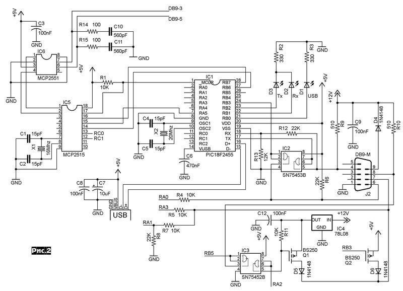 Принципиальная схема AllPro адаптера