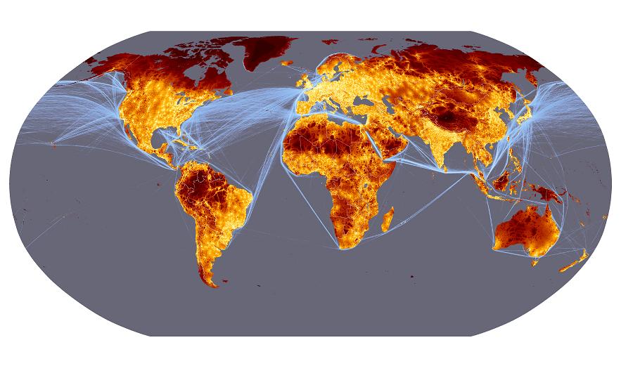 карта мировых товаропотоков