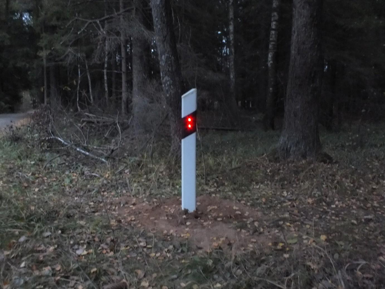 Активный дорожный сигнальный столбик