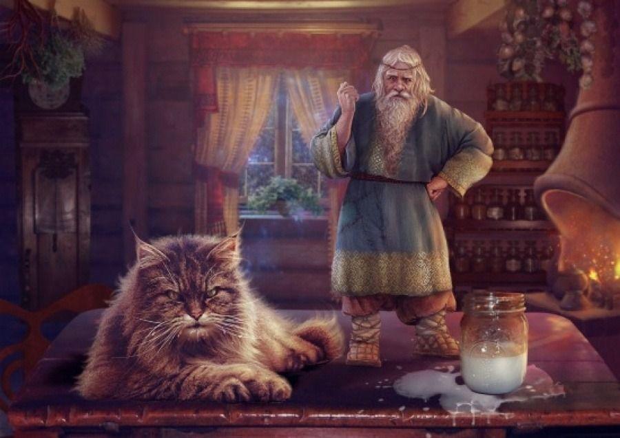 Кошка и Кот Баюн