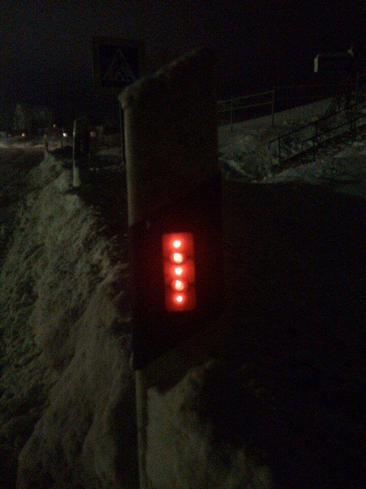 Сигнальный дорожный столбик с питанием от энергии земли в Переславль-Залесском