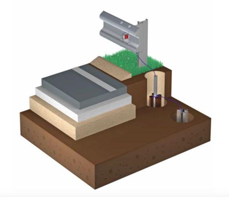 катафот для дорожного ограждения барьерного типа с активной подсветкой (КДА)