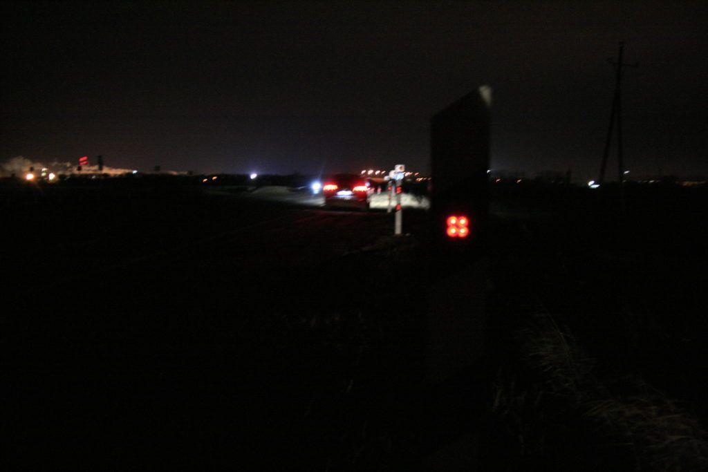 Дорожный столбик с питанием от земляной батареи в Тульской обл